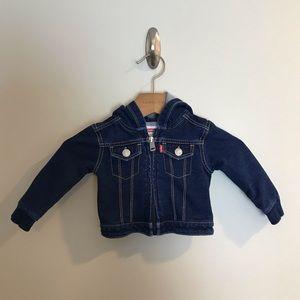 Levi's Baby Stretchy Denim Jacket Hoodie 0-6 Month